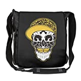NYYSBU Crossbody Messenger Bag Pirate Skull Hip-hop Shoulder Tote Sling Postman Bags One Size