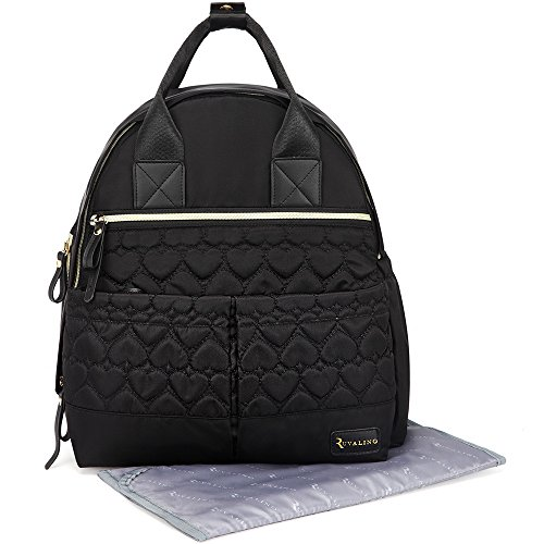 diaper bag ruvalino multi function baby diaper bag backpack import it all. Black Bedroom Furniture Sets. Home Design Ideas