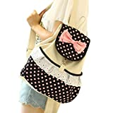 Houser Bags Casual School Bags Backpacks Girls Demin Bow Cute Bookbags Student Backpack for Teenage (Style_1)