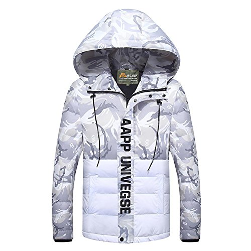 Down White Winter Jackets Men's Jacket Hooded Camouflage Sunshey Puffa RxTqwfqE