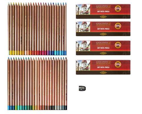 Pastellstifte 48 Stück Gioconda von KOH-I-NOOR Set + Anspitzer