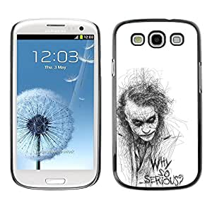 Impact Case Cover with Art Pattern Designs FOR Samsung Galaxy S3 Why So Serious Sketch Movie Character Betty shop