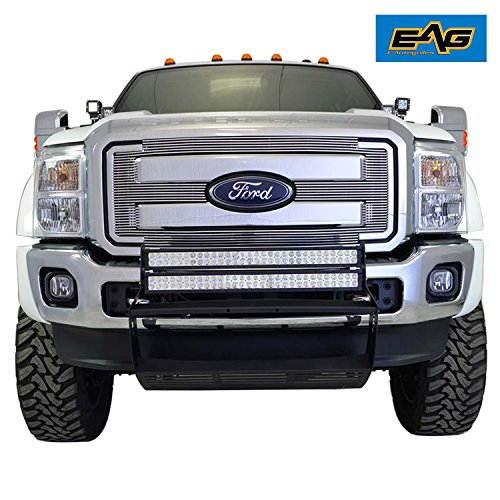 Billet Chrome Grille Shell - EAG Horizontal Chrome Billet Grille for 11-16 Ford F-250/F-350 Super Duty