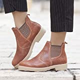 Handmade Leather Women's Flat Ankle Boots