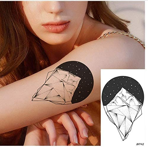 ruofengpuzi 3D Geometría Brazo Femenino Galaxia Estrella Tatuaje ...