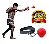 GearGriz Boxing Reflex Ball - Improve Speed With Reaction Training - Get In Shape While Having Fun Punching - Lightweight And Portable - Premium Fitness Headband