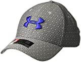 Under Armour Men's Printed Blitzing 3.0 Stretch Fit Cap, Steel (036)/Royal, X-Large/XX-Large