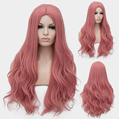 Similar Cosplay Long Wavy Full Synthetic Wigs Fluffy Hair Wig with Cap Halloween Gift,28,28inches -