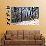 FATHEAD Deer in The Woods Mural Graphic Wall Décor