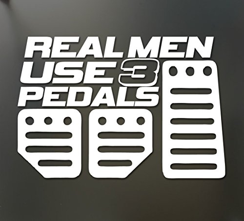 1 Set Immaculate Popular Real Men Use 3 Pedals Car Sticker Honda Race Funny Decal Truck Window Color (Flame Pedal Set)