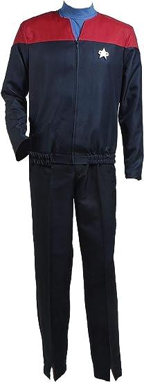 Voyager Cosplay Captain Kathryn Janeway Uniform Costume//UY Star Trek