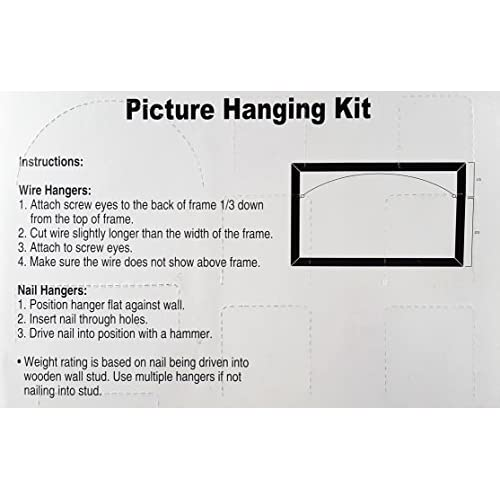 Picture Hangers Assortment Kit Clip Strip - The Hanging Kit Ideal ...