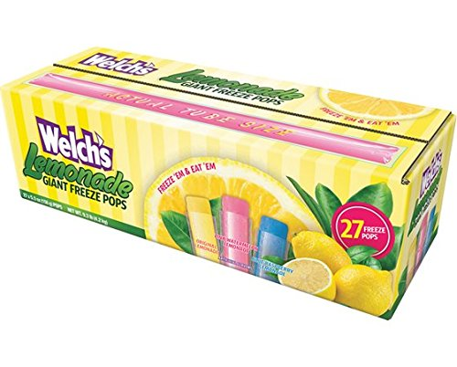 Welch's Lemonade Giant Freezer Pops (Pack of 27 5.5oz pops) ()