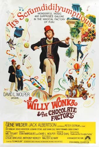"Willy Wonka And The Chocolate Factory Poster 27/""x40/"""