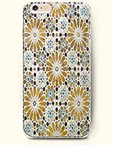 SevenArc Apple iPhone 6 Plus 5.5' 5.5 Inches Case Moroccan Pattern ( Khaki Sunflowers )