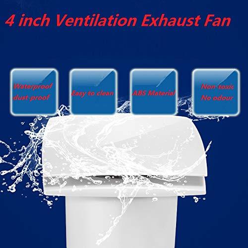 Bewox 4 inch Toilet Bathroom Extractor Fan Window Wall Ceiling Ventilation Exchaust Fan 94m³/h