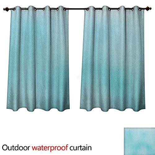 Seafoam Home Patio Outdoor Curtain Abstract Modern Art Inspired Illustration Aquatic Tones Blurred Background Design W96 x L72(245cm x 183cm) -