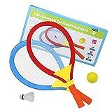 Akokie Badminton Racket Tennis Balls Racket Balls Kids Toys Gift for Boys Girls 3 Years Old