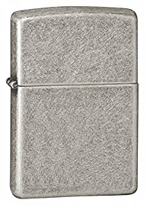Zippo Armor Pocket Lighter, Antique Silver Plate
