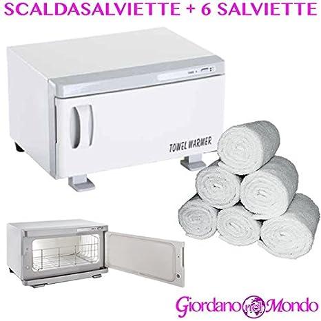 Toallero eléctrico esterilizador para uso profesional con 6 toallas de rizo 30 x 30 cm: Amazon.es: Salud y cuidado personal