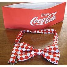 Red Coca Cola Soda Jerk Paper Party Hat & Bowtie