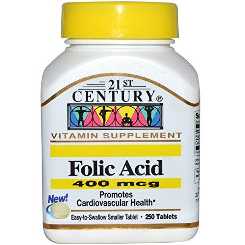 21st Century, Folic Acid, 400 mcg, 250 Tablets - 2pc