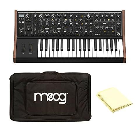 Moog LPS-SUB-002 Sub 37 100% Analog Tribute Edition Analog Subtractive Synthesizer with Moog ACC-GB-0006 Little Phatty Gig Bag and Polishing (Sub Phatty)