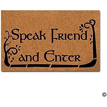 Beau MsMr Doormat Entrance Floor Mat Funny Doormat Speak Friend And Enter Door  Mat Home Decorative Indoor