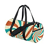 AURELIOR Spiral Gym Duffle Bag Drum tote Fitness Shoulder Handbag Messenger Bags