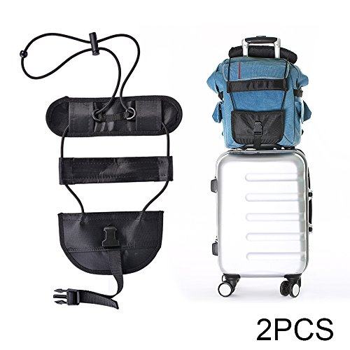 XCSOURCE 2pcs Bag Bungee Luggage Bungee Adjustable Luggage Strap Elastic Suitcase Bag Carry On Holder for Travel HS987 by XCSOURCE