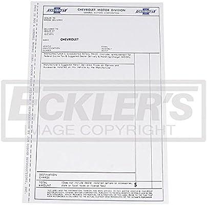 Amazon com: Eckler's Premier Quality Products 55-192190 El