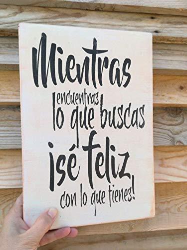 Cartel De Madera Con Frases Motivadoras Optimistas Con