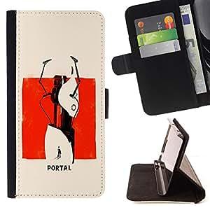 Jordan Colourful Shop - Abstract Portal Painting For HTC Desire 820 - < Leather Case Absorci????n cubierta de la caja de alto impacto > -