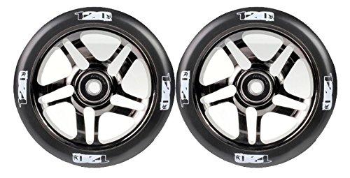 Envy Scooters 120mm 5 Spoke Wheels (Pair) (Black Chrome)