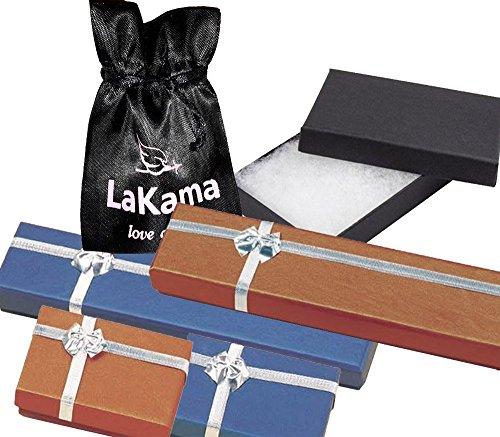 """lakama-Collier Femme-Chaîne Or Blanc 18carats, léger, sur les deux côtés en 40,6cm/40cm-18""""/45cm-20""""/50cm"""