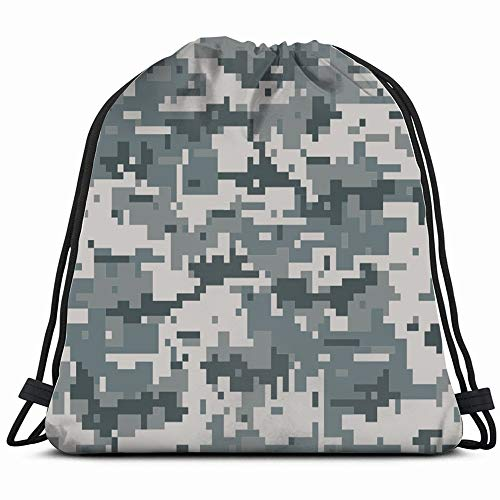 - Digital Camouflage Abstract Drawstring Backpack Bag For Kids Boys Girls Teens Birthday, Gift String Bag Gym Cinch Sack For School And Party