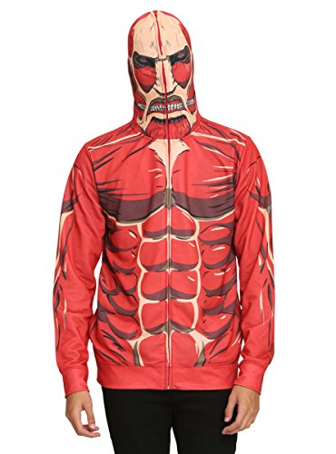 Hot Topic Attack On Titan Colossal Titan Costume Full Zip Hoodie -