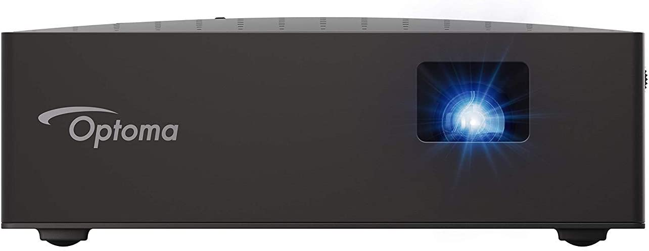 Optoma LV130 Mini Projector, Bright and Ultra Portable LED Cinema in Your Pocket, 4.5 Hour Built-in Battery, HDMI, USB, DLP Projector with Amazing Colors