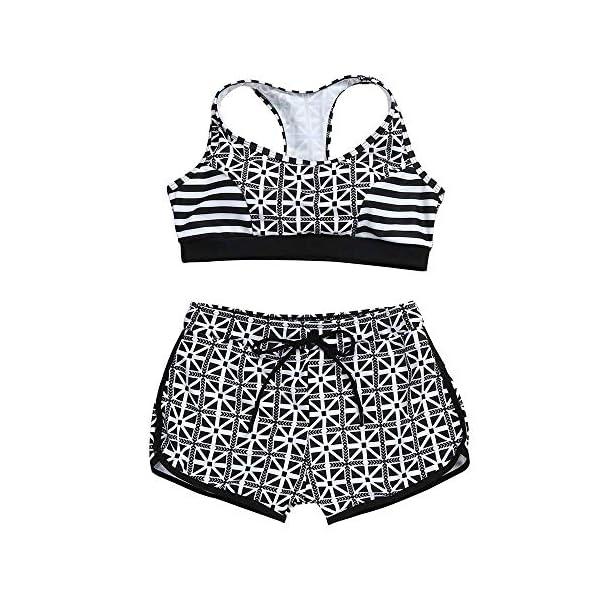 Costume Donna Due Pezzi - Bikini - Top - Shorts - Mare - da Bagno - Sport - Sportivo - Coordinato - Ragazza - Righe… 3 spesavip
