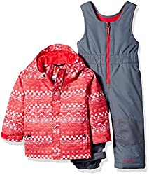 Columbia Baby Buga Snow Set, Punch Pink Fair Isle, 12-18 Months