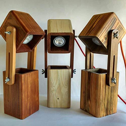 Lámpara extensible de madera reciclada de palet, para ...
