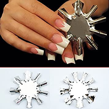 Amazon Professional 1 9 Sizes V Shaped Cutter French Manicure