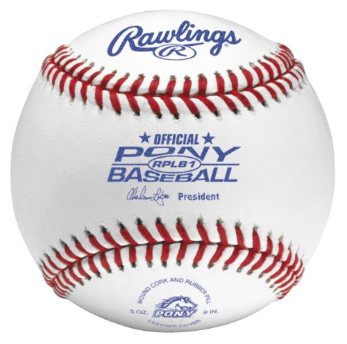 Rawlings Raised Seam Baseballs, Pony League Competition Grade Baseballs, Box 12, RPLB1 by Rawlings