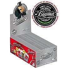 25 Smoking Brand Master Ultra Thin Ultra Slim Leaf 1 1/4 Cigarette Rolling Papers Packs (50 Leaves/Pack) + Beamer Smoke Sticker. For Legal Smoking Herbs, Rolling Tobacco, Herbal Mixes, Rollers,Ryo,Myo