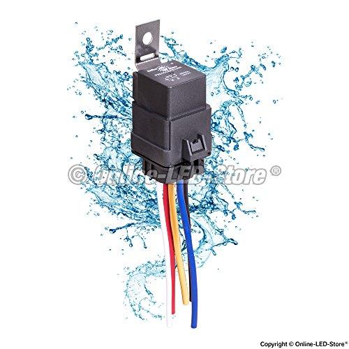 Ols 40  30 Amp Waterproof Relay Switch Harness Set  U2013 12v Dc