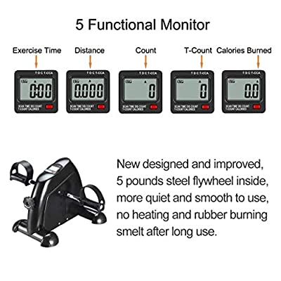 TODO Pedal Exerciser Medical Peddler for Leg Arm and Knee Recovery Exercise with LCD Monitor from GOTODO