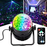 Disco Ball DJ Party Lights, Sound Activated Disco Lights with Remote Control 7 Colors RGB Projection Effects for Party Holiday KTV Bar Wedding Christmas Karaoke DJ Club