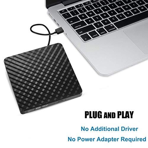 Tecnugiz External CD/DVD Drive for Laptop & MacBook, CD / DVD Player & Burner with USB 3.0 Plug, Fast Data   Transfer & Writing Speed 8 X DVD-R by Tecnugiz (Image #1)