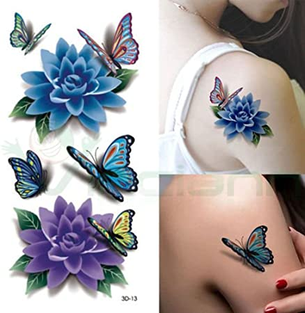Tatuaje Tattoo temporalmente Lavable Flores Mariposas Body Art ...