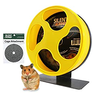 "Silent Runner 9"" - Exercise Wheel + Cage Attachment - for Hamsters, Gerbils, Mice and Other Small Pets 4"